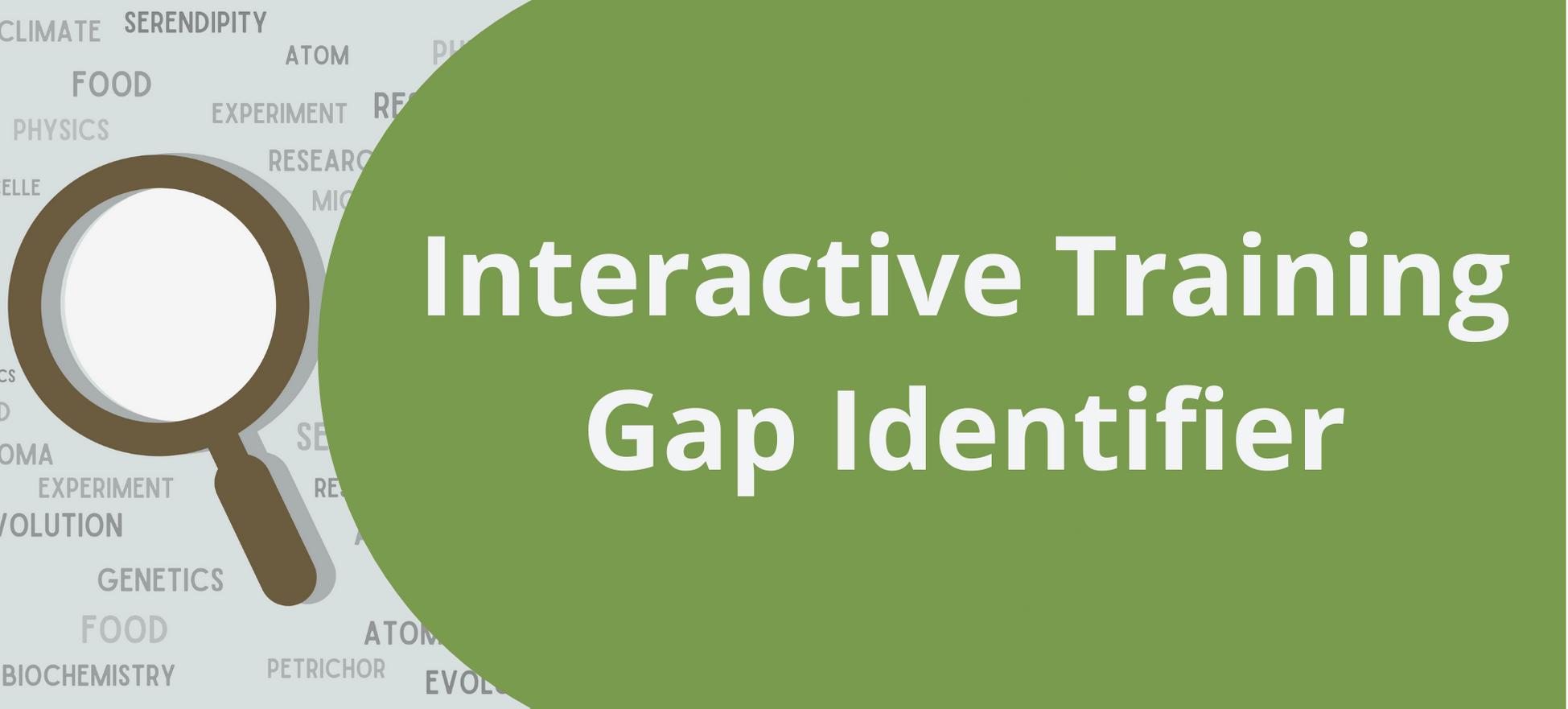 Interactive Trainign Gap Identifier Tool